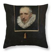 Portrait Of Cornelis Van Der Geest Throw Pillow