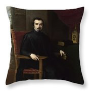 Portrait Of Don Justino De Neve Throw Pillow