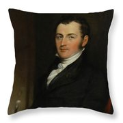 Portrait Of George Gallagher Throw Pillow