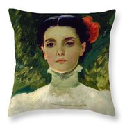 Portrait Of Maggie Wilson Throw Pillow