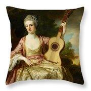 Portrait Of Maria Walpole Throw Pillow