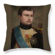 Portrait Of Napoleon Buonaparte Throw Pillow