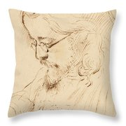 Portrait Of Samuel Palmer Head And Shoulders Throw Pillow