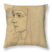 Portrait Of Treesje Westermann, Mother Teresa Huf Of Bethany, Jan Toorop, 1927 Throw Pillow