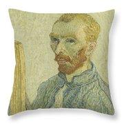 Portrait Of Vincent Van Gogh Throw Pillow