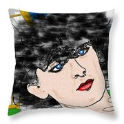 Portrait With Adonit Pixel. Throw Pillow