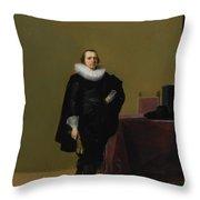 Portraits Of Jacob Van De Merckt Throw Pillow