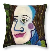 Portrat Of M.b. Throw Pillow