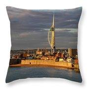 Portsmouth Harbour England  Throw Pillow