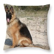 Posed Throw Pillow