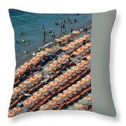 Positano Beach Throw Pillow