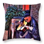 Post Alley Musician Throw Pillow