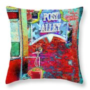 Post Alley Throw Pillow