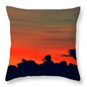 Post Sunset Sky  Throw Pillow
