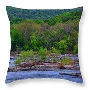 Potomac River Near Harpers Ferry Throw Pillow