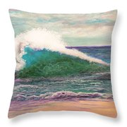 Powerful Sea Throw Pillow