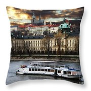 Prague By The Water Throw Pillow
