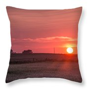 Prairie Sunset Throw Pillow