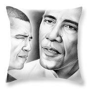 President Barack Obama Throw Pillow