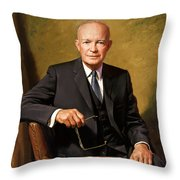 President Dwight Eisenhower Painting Throw Pillow