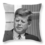 President John Kennedy Throw Pillow