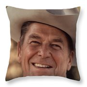 President Ronald Reagan Throw Pillow