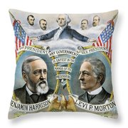 Presidential Campaign, 1888 Throw Pillow