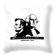 President's Day Throw Pillow