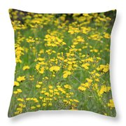 Pretty In Yellow Throw Pillow by Kathy DesJardins