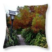 Pretty Lanterns Walk Throw Pillow