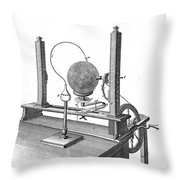 Priestleys Electrostatic Machine, 1775 Throw Pillow