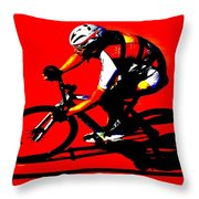 Pro Cycling Throw Pillow