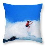 Pro Surfer Alex Ribeiro Throw Pillow