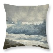 Prouts Neck, Breakers Throw Pillow