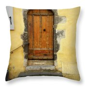 Provence Door Number 6 Throw Pillow