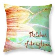 Proverbs 10 16 Throw Pillow