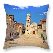Prvic Sepurine Stone Architecture View Throw Pillow
