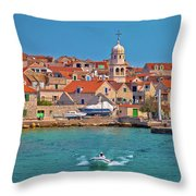 Prvic Sepurine Waterfront And Stone Architecture View Throw Pillow