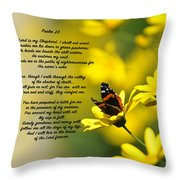 Psalm 23 Throw Pillow