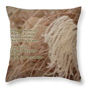 Psalm 37 Throw Pillow