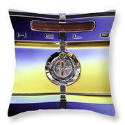 Psychedelic Shelby Ford Mustang Trunk Lid And Badge 4 Throw Pillow