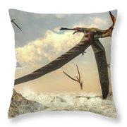 Pteranodon Birds Flying - 3d Render Throw Pillow
