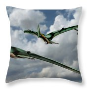 Pterodactyls In Flight Throw Pillow