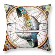 Ptolemaic Universe, 1660 Throw Pillow