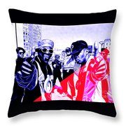 Public Enemy Collection Throw Pillow