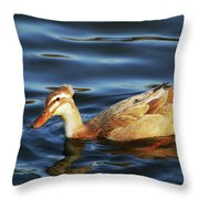 Puffy Headed Duck Throw Pillow
