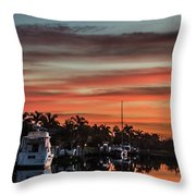 Punta Gorda From Bal Harbor Throw Pillow