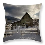 Purcell Barn Throw Pillow