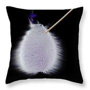 Purple Balloon Throw Pillow