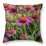 Purple Blooms Throw Pillow